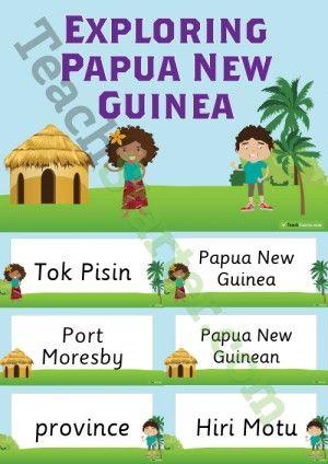 Exploring Papua New Guinea Word Wall Vocabulary