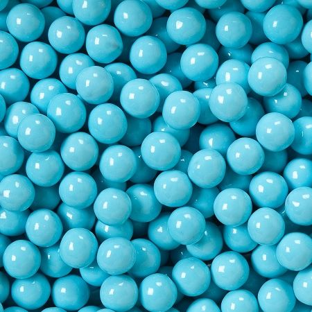 Powder Blue Sixlets 10 Lb Bat Mitzvah Blue Light