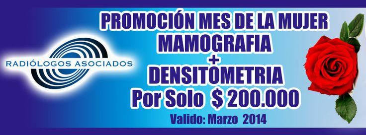 COMBO MAMOGRAFIA + DENSITOMETRIA POR SOLO $200.000