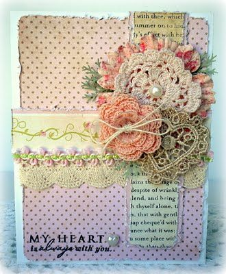 ♡ I CHECKED THE BLOG, AND THERE WAS NO MENTION OF THE SWEET, LITTLE DOILIES, LET ALONE DIRECTIONS! LET'S SEE WHAT WE CAN COME UP WITH!  ♥A