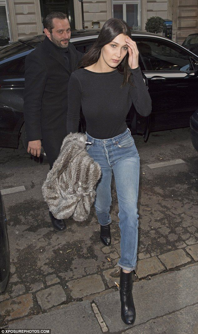 Out and about: On Monday, Bella stepped out looking flawless in her off-duty gear, taking ...