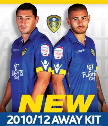 Leeds United's away kit for the 10/11 and 11/12 football season has been officially released by the Whites. This new Leeds away kit has been manufactured by Macron. The away shirt is blue in …