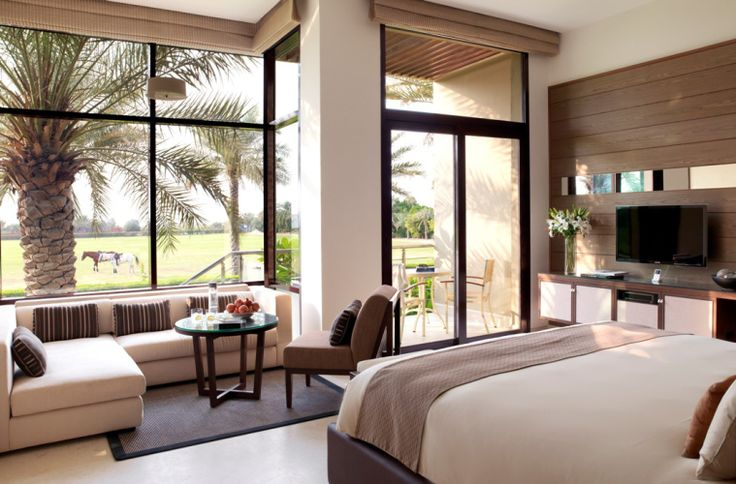 Your suite with a view of the championship polo field. Do Dubai Differently At This Polo-Loving Retreat. Read our feature http://www.thechictravelclub.com/do-dubai-differently-at-this-polo-loving-retreat/ Join the club at www.facebook.com/thechictravelclub to be in the know! xo