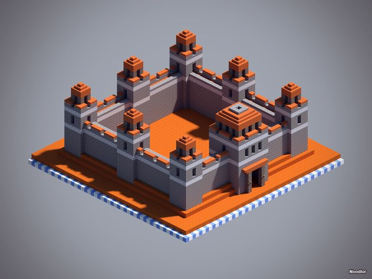 Minecraft Stone an Acacia wall design