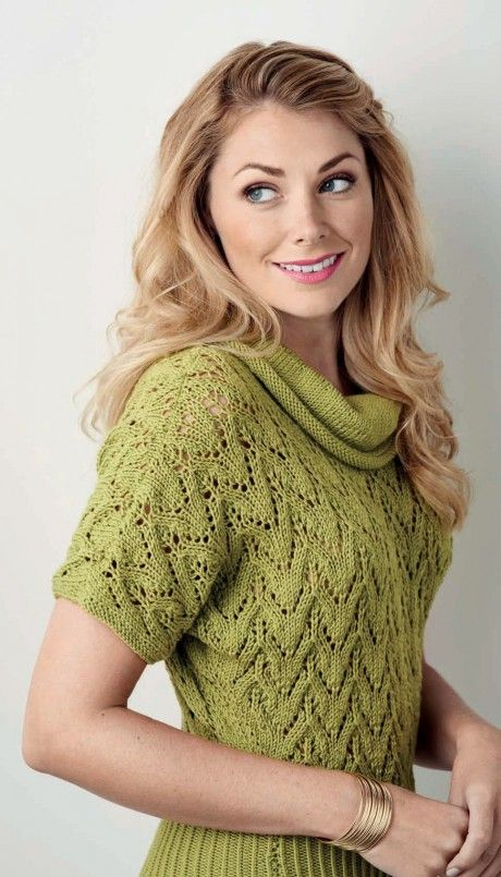Knit an elegant and flattering lace sweater