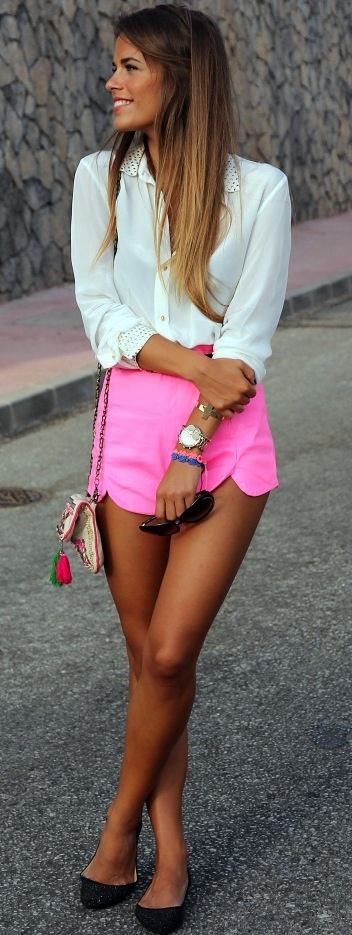 Want some pink shorts for Ibiza 2014!