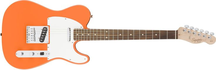 "Squier by Fender Affinity Telecaster Beginner Electric Guitar - Rosewood Fingerboard, Competition Orange. Squier's Affinity Series provides the best value in instrument design available today, and is the perfect choice for the aspiring musician. Two Single-Coil Telecaster pickups envoke the iconic tone of the original solid-body electric guitar. The Top-load Telecaster bridge makes changing strings a breeze & provides optimal tuning stability. The modern ""C"" shaped neck provides universal..."