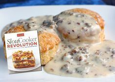 Slow Cooker sausage gravy for sausage biscuits and gravy.  Easy crockpot breakfast.