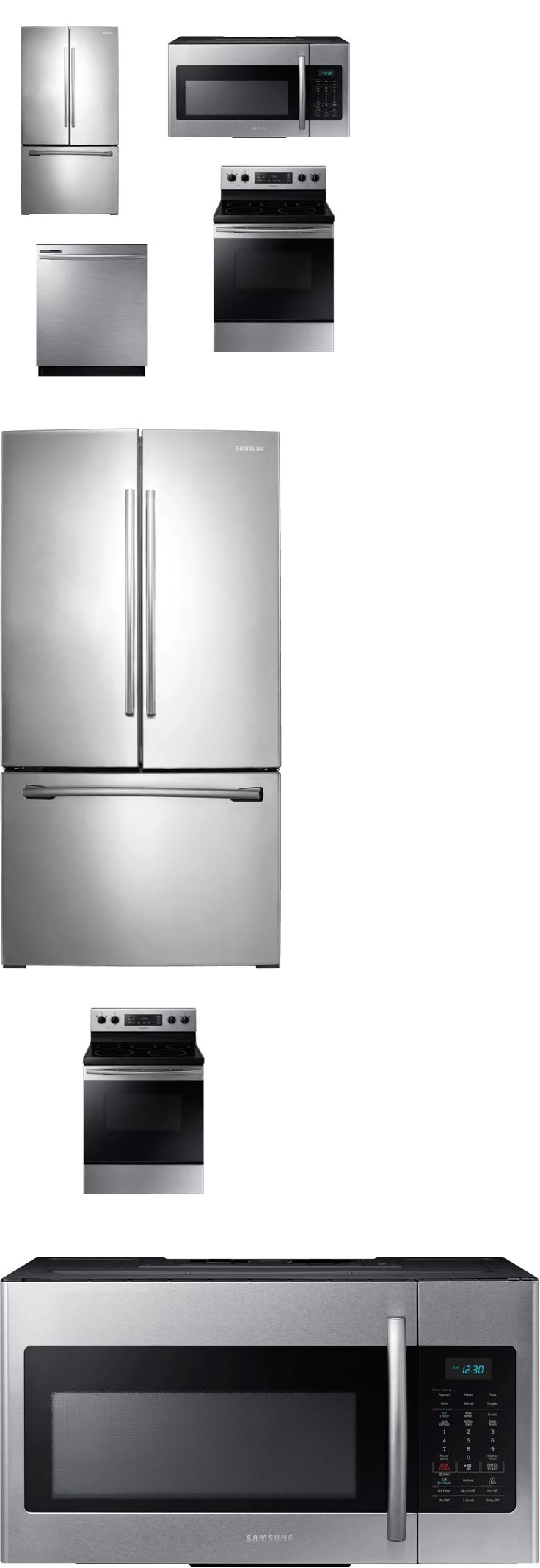 other major appliances 20715 samsung 4 kitchen appliance package stainless refrigerator range dishwasher deal - Kuechengeraet Pakete
