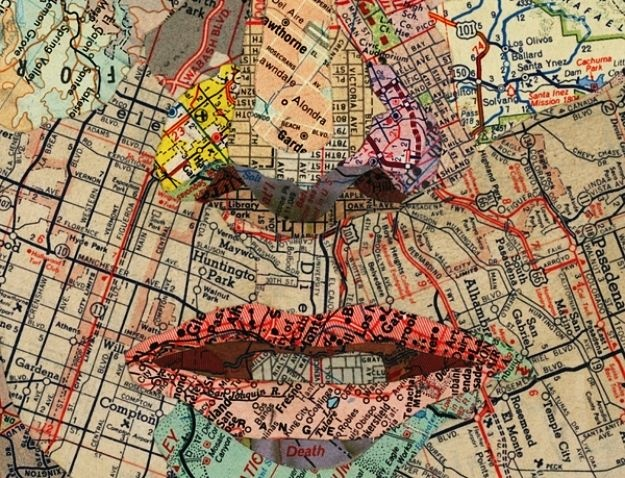 Matthew Cusick. incredible map collages