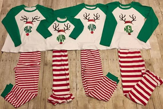 Preorder Christmas pajamas, Christmas infant gown, Christmas pajamas, family…