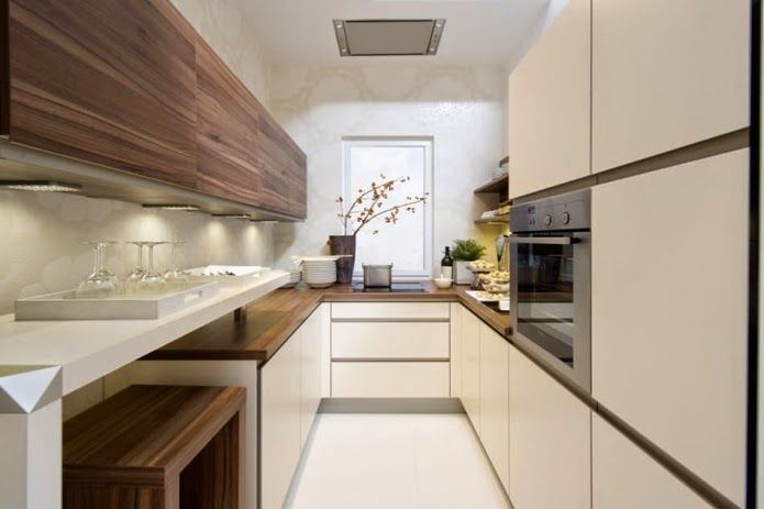 long narrow kitchen ideas: modern long narrow kitchen design