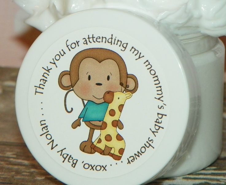 monkey baby shower baby shower favors whipped body butter monkey