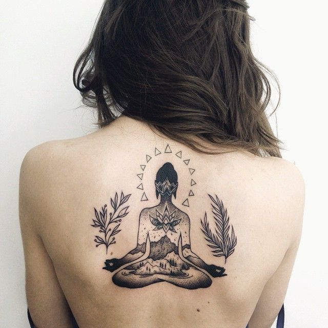 Keep calm and enjoy reality  #tattoo #ink #blacktattoo #linework #dotwork #lotus #buddha #native #nature #balance #татуировка #тату