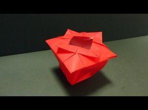 """「花瓶」折り紙""""Flower Vase""""origami - YouTube"""