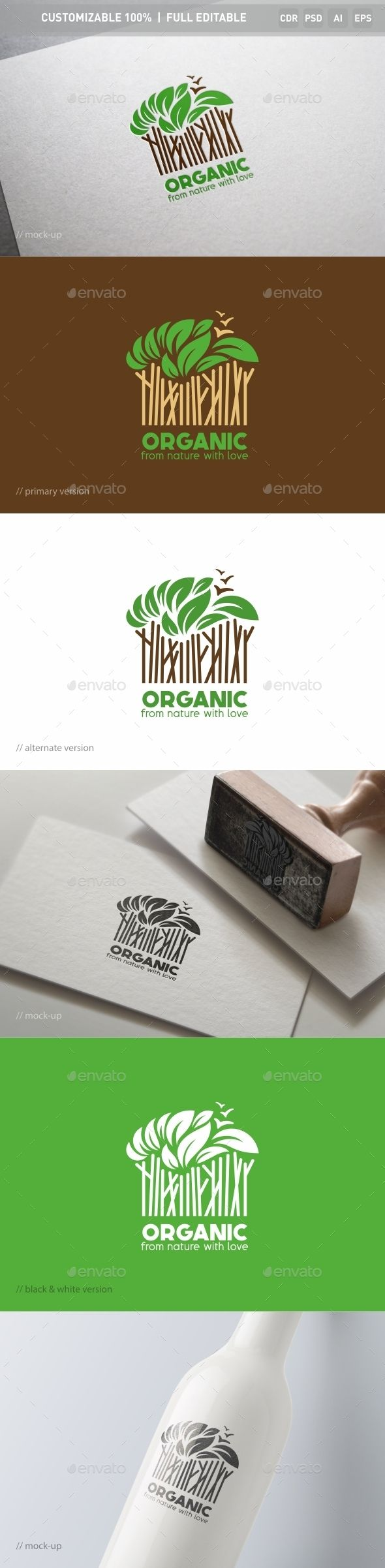 Organic Logo Template — Photoshop PSD #gymnasium #delicate • Available here → https://graphicriver.net/item/organic-logo-template/13025408?ref=pxcr