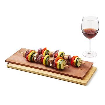 Wine Infused Cedar Grilling Plank Set