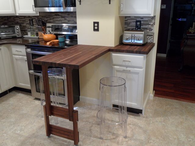 Butcher Block Peninsula - WoodWorking Projects & Plans
