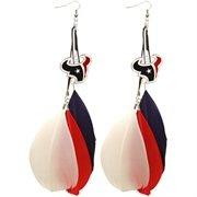 Houston Texans Ladies Fan Feather Earrings