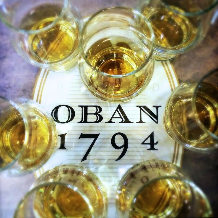 Time for tastings - whisky at Oban distillery
