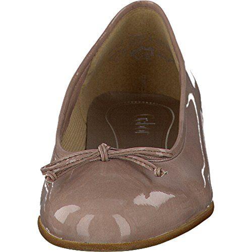 Gabor Fashion Damenschuhe 45.103.79 Damen Ballerinas Slipper Slip-On Pink (antikrosa), EU 38 - http://on-line-kaufen.de/gabor/5-uk-gabor-damen-ballerinas-lack-rosa-schuhe-in