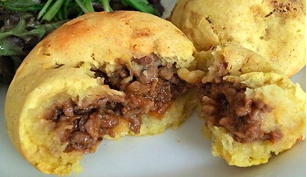 Bolinho de batata doce e carne moída - Sem Culpa Nenhuma