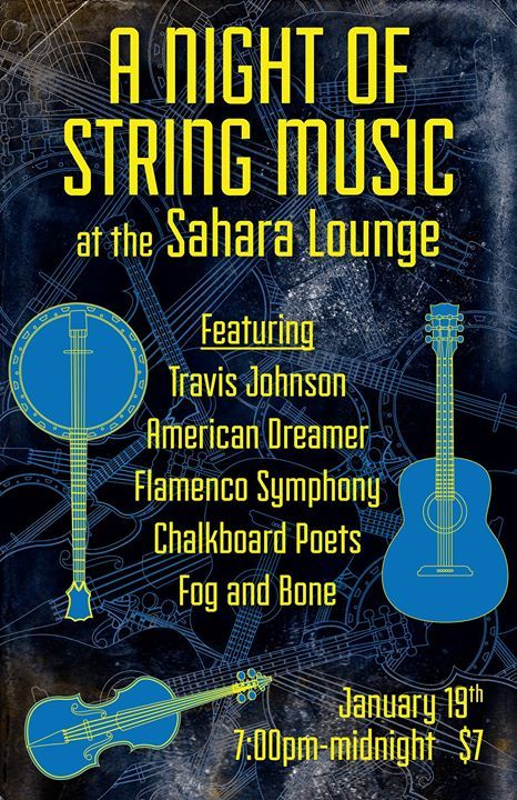 #FOEAUSTIN A Night of String Music at the Sahara Lounge - http://fullofevents.com/austin/event/a-night-of-string-music-at-the-sahara-lounge/