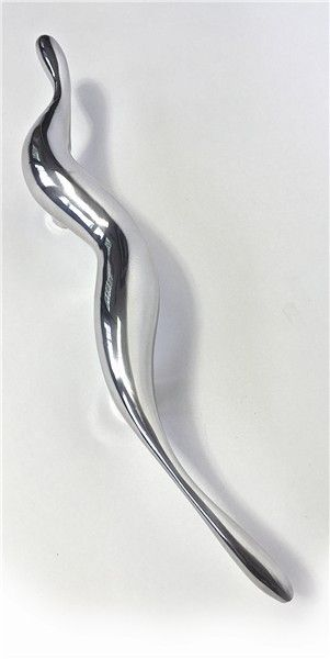 Door handle. sculpture. aluminium. chrome.