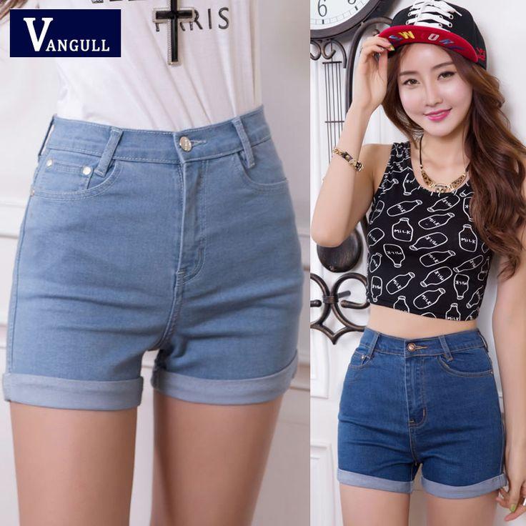 2016 Nieuwe Mode vrouwen jeans Zomer Hoge Taille Stretch Denim Shorts Slim Koreaanse Casual vrouwen Jeans Shorts Hot Koop Plus Size