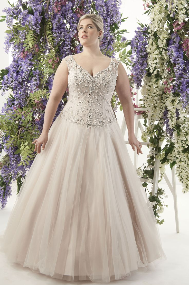 Superb Callista Seville Plus Size Wedding Dress gorgeous in vintage rose or ivory