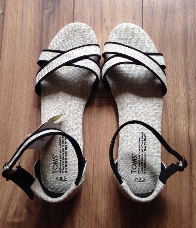 Toms Sandal Womens Correa Burlap Beige Strappy  9.5 NWT !!  | eBay