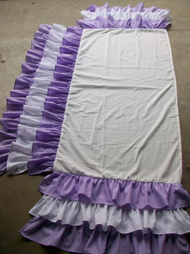 3 Tiered and 3 Sided Ruffles Crib Skirt with by sewwhatgrandma, $85.00--pink ombré version will be adorable!