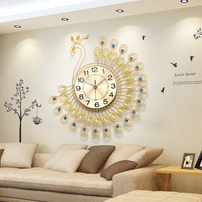 7 best clock wall designs images on pinterest wall clock for Modern living room clocks