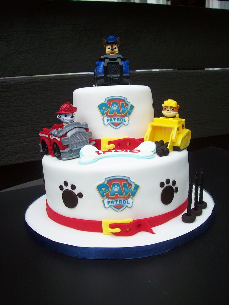 Paw Patrol Cake Auckland $349 (figurines bought from a licensed retailer)