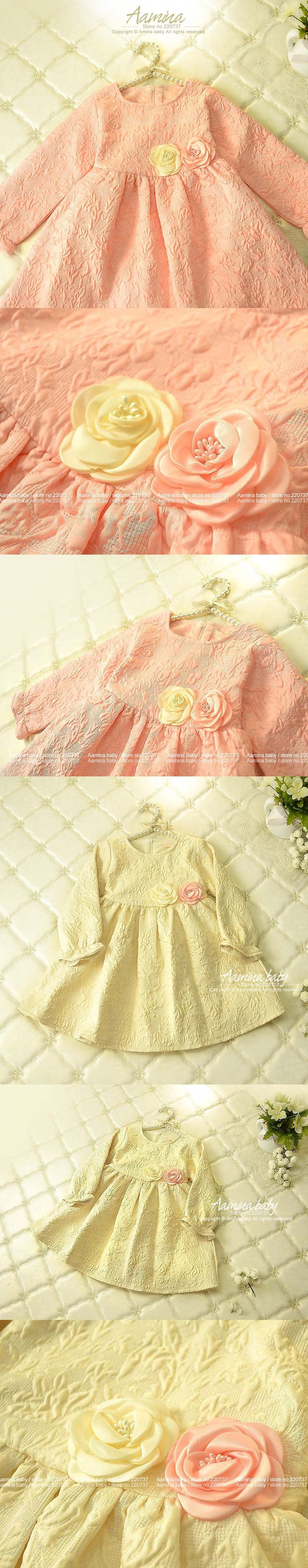 Retail Girl Party Dress Infant 2016 Toddler Girl Dresses Autumn A-line Princess Dress Kids Clothes Girl Christmas Dress #601219 $22