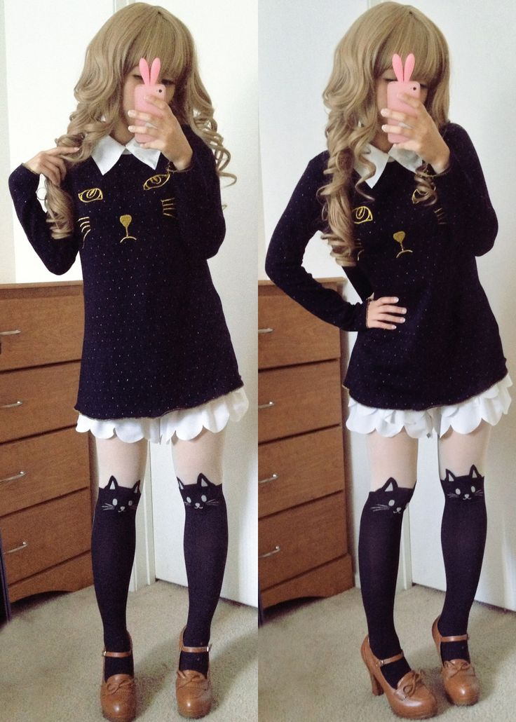 """dolldelight: """" Top ♥ Skirt ♥ Tights ♥ Shoes """""""