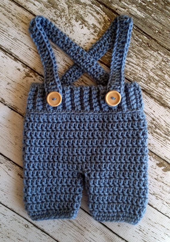 Crochet Baby Shorts/Pants with Suspenders by mamamegsyarnshoppe