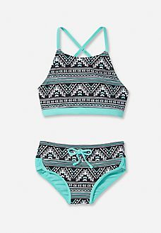 Pinto Print High Neck Bikini Swimsuit – pinnme.com / … #bikini #High #neck #Pint …