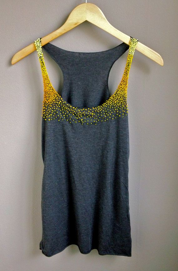 Ombre Yellow French Knot Tank Top. So simple and cute
