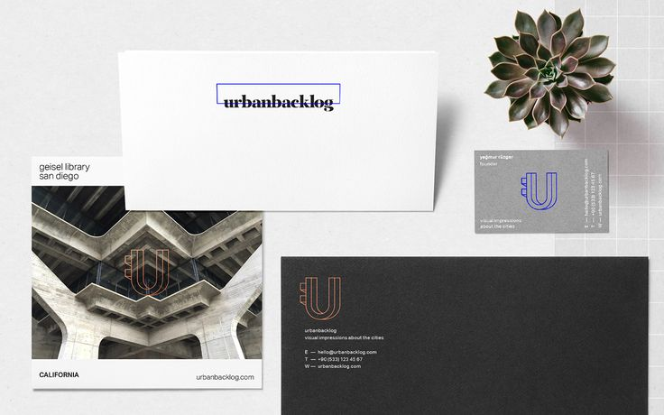 """An identity design project for the online blog called urbanbacklog based on """"visual impressions about the cities""""."""