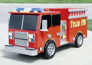 Enjoy Fee plans woodworking resource from WoodworkersWorkshop Online Store toy KKEEYY Fire Truck Toy Box PDF Woodworking Plan This sturdy #WoodworkingPlans