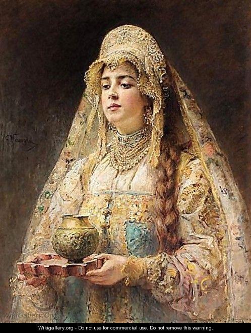 Charka Of Honey - Konstantin Egorovich Egorovich Makovsky