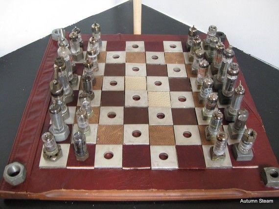 Attractive Steampunk Chess Set By Autumnsteam On Etsy