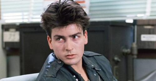 Charlie Sheen, bad boy from way back.  I just heard that he stayed up for 48 hours so he could have that wasted look.  Not sure if I believe that, but it sounds good.