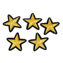 10 Unids Estrella de Parches Para los Pantalones Vaqueros de Hierro-En la Confección de Bolsa Sombrero DIY Adorno Bordado Applique DIY de Coser Accesorios Para ropa 4 cm x 4.2 cm(China (Mainland))