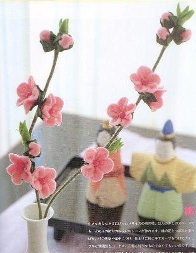 Felt Cherry Blossoms