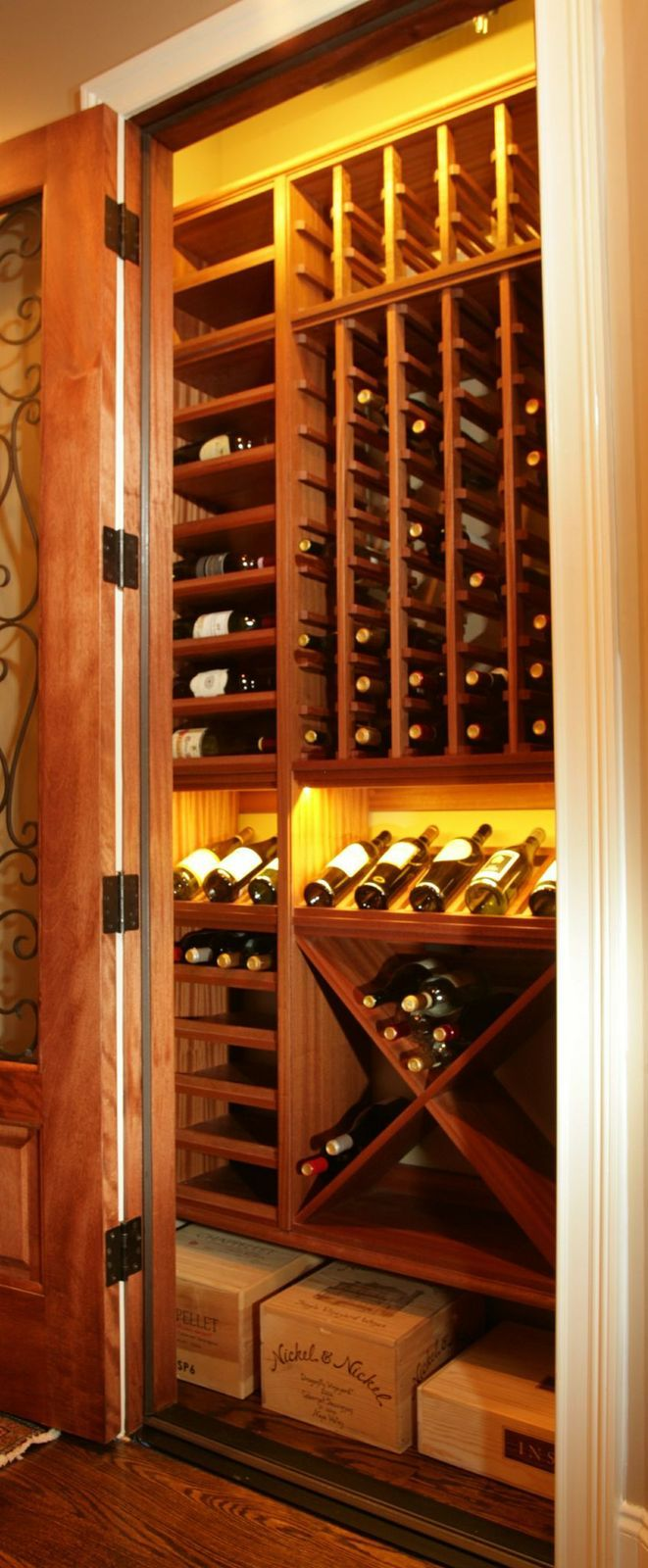 Custom wine racks gallery by carolina closets closet to for Wine cellar pinterest