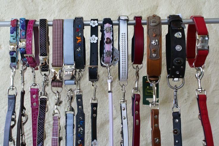 Hundehalsbänder in div. Materialien