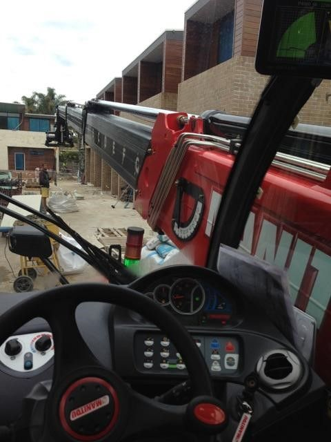 The view from the cabin of our 18m, 4T wet hire machine yesterday.  If you need operated hire on your site, call today to book in 1300 300 605