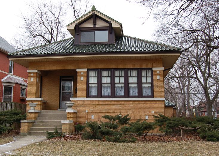 24 best chicago bungalows images on pinterest bungalows for Chicago bungalow house plans